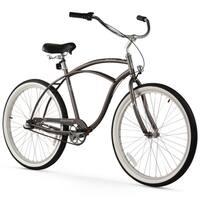 "26"" Firmstrong Urban Man Seven Speed Beach Cruiser Bicycle, Matte Grey"