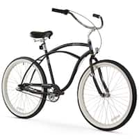 "26"" Firmstrong Urban Man Seven Speed Beach Cruiser Bicycle, Matte Black"