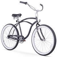 "26"" Firmstrong Urban Man Seven Speed Beach Cruiser Bicycle, Black"