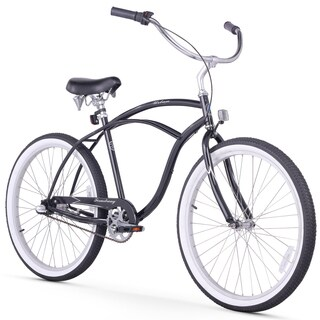 "26"" Firmstrong Urban Man Seven Speed Beach Cruiser Bicycle, Black"