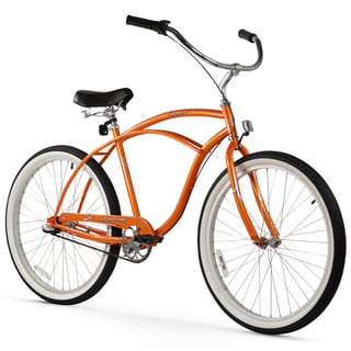 "26"" Firmstrong Urban Man Three Speed Beach Cruiser Bicycle, Orange"