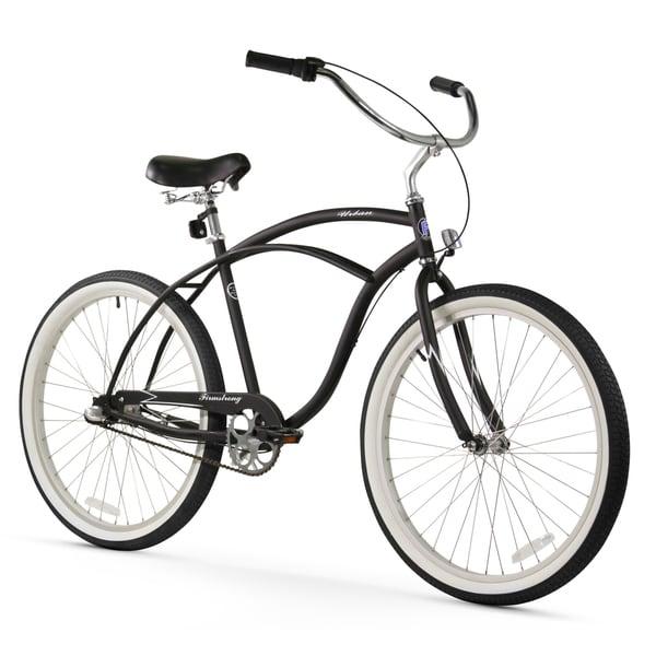 "26"" Firmstrong Urban Man Three Speed Beach Cruiser Bicycle, Matte Black"