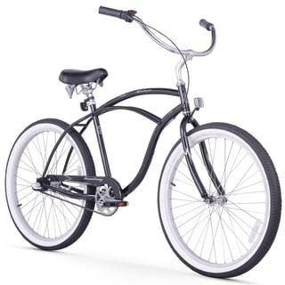 "26"" Firmstrong Urban Man Three Speed Beach Cruiser Bicycle, Black"