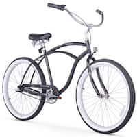 "26"" Firmstrong Urban Man Three Speed Beach Cruiser Bicycle, Black"
