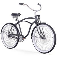 "26"" Firmstrong Urban Man LRD Single Speed Beach Cruiser Bicycle, Black"