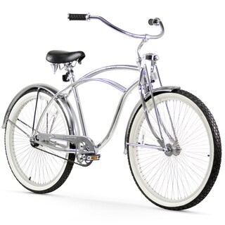 "26"" Firmstrong Urban Man LRD Single Speed Beach Cruiser Bicycle, Chrome"