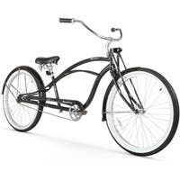 "26"" Firmstrong Urban Man Deluxe Single Speed Stretch Beach Cruiser Bicycle, Black"