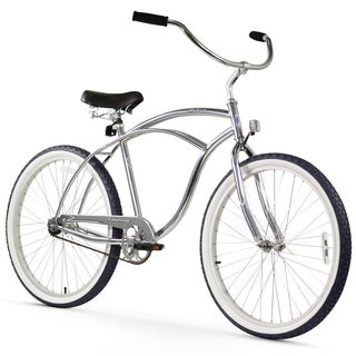 "26"" Firmstrong Urban Man Alloy Single Speed Beach Cruiser Bicycle, Chrome"