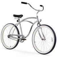 "26"" Firmstrong Urban Man Alloy Single Speed Beach Cruiser Bicycle, Chrome"