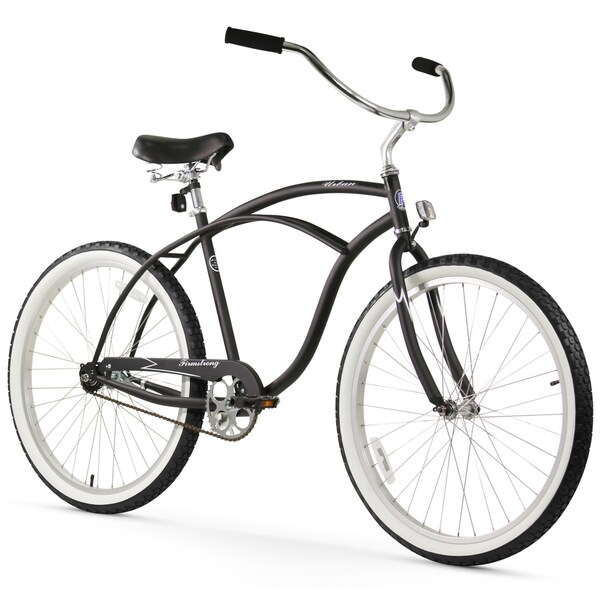 "26"" Firmstrong Urban Man Alloy Single Speed Beach Cruiser Bicycle, Matte Black"