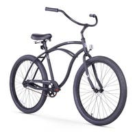 "26"" Firmstrong Urban Man Alloy Single Speed Beach Cruiser Bicycle, Matte Black"