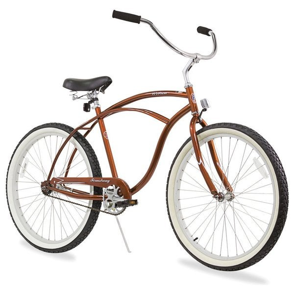 "26"" Firmstrong Urban Man Single Speed Beach Cruiser Bicycle, Gloss Brown"