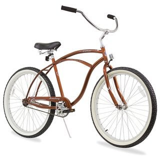 "26"" Firmstrong Urban Man Single Speed Beach Cruiser Bicycle, Gloss Brown"