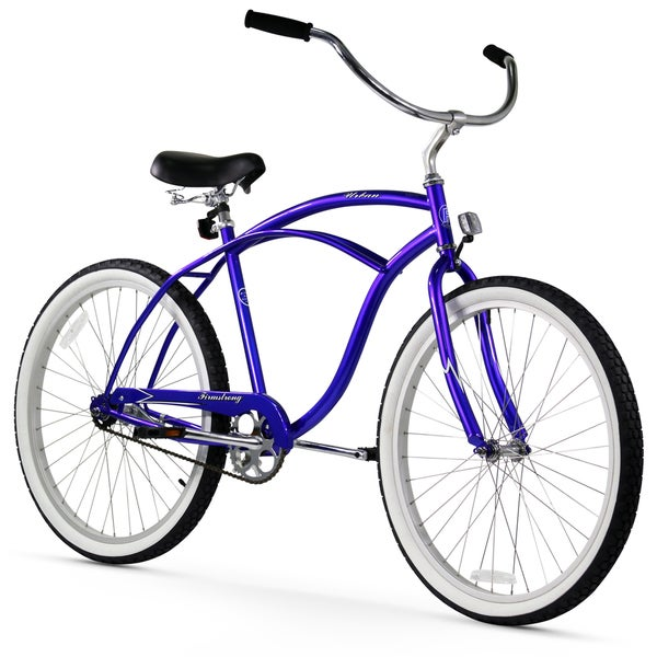 "26"" Firmstrong Urban Man Single Speed Beach Cruiser Bicycle, Royal Blue"