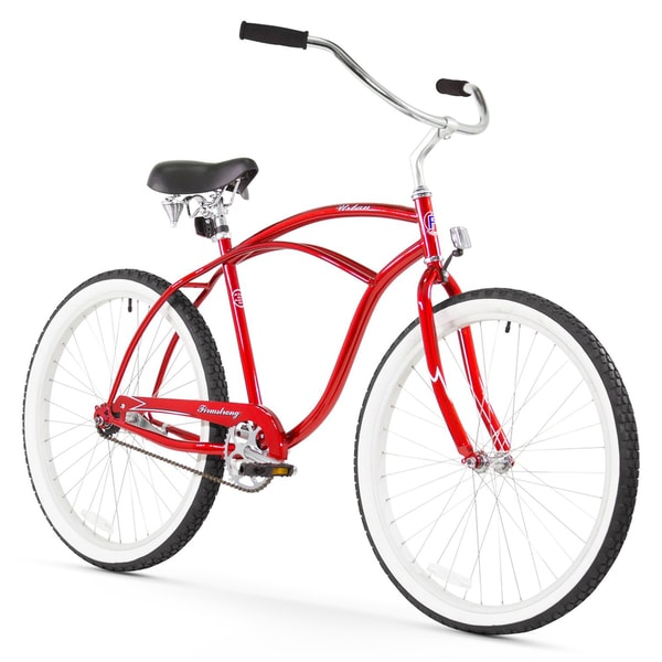 "26"" Firmstrong Urban Man Single Speed Beach Cruiser Bicycle, Red"