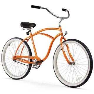"""26"""" Firmstrong Urban Man Single Speed Beach Cruiser Bicycle, Orange"""