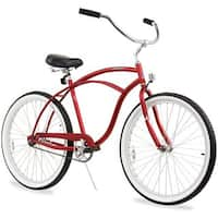 "26"" Firmstrong Urban Man Single Speed Beach Cruiser Bicycle, Matte Red"