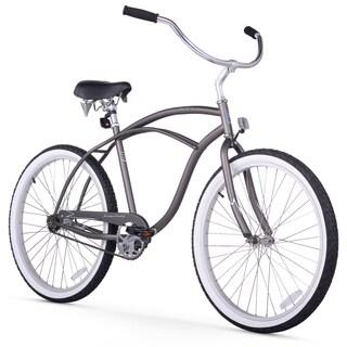 """26"""" Firmstrong Urban Man Single Speed Beach Cruiser Bicycle, Matte Grey"""