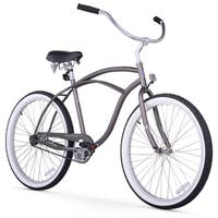 "26"" Firmstrong Urban Man Single Speed Beach Cruiser Bicycle, Matte Grey"