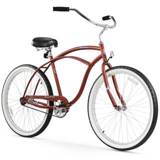 """26"""" Firmstrong Urban Man Single Speed Beach Cruiser Bicycle, Matte Brown"""
