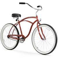"26"" Firmstrong Urban Man Single Speed Beach Cruiser Bicycle, Matte Brown"