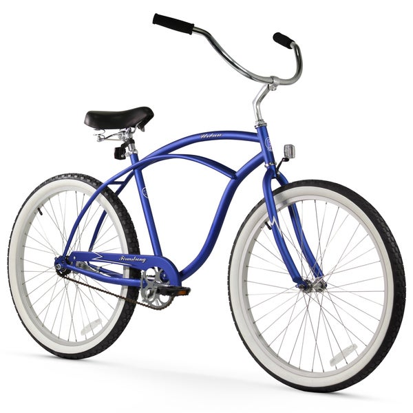 "26"" Firmstrong Urban Man Single Speed Beach Cruiser Bicycle, Matte Blue"