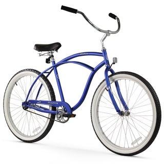 "26"" Firmstrong Urban Man Single Speed Beach Cruiser Bicycle, Matte Blue"