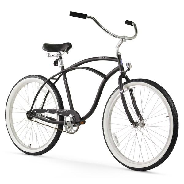 """26"""" Firmstrong Urban Man Single Speed Beach Cruiser Bicycle, Matte Black"""