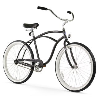 "26"" Firmstrong Urban Man Single Speed Beach Cruiser Bicycle, Matte Black"