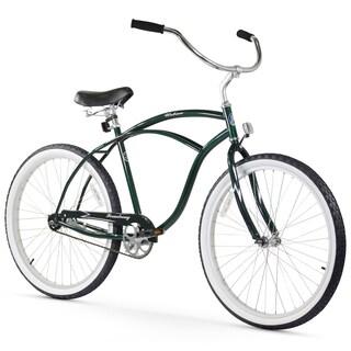 "26"" Firmstrong Urban Man Single Speed Beach Cruiser Bicycle, Emerald Green"