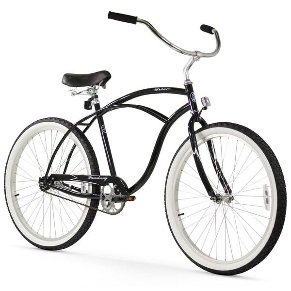"26"" Firmstrong Urban Man Single Speed Beach Cruiser Bicycle, Black"