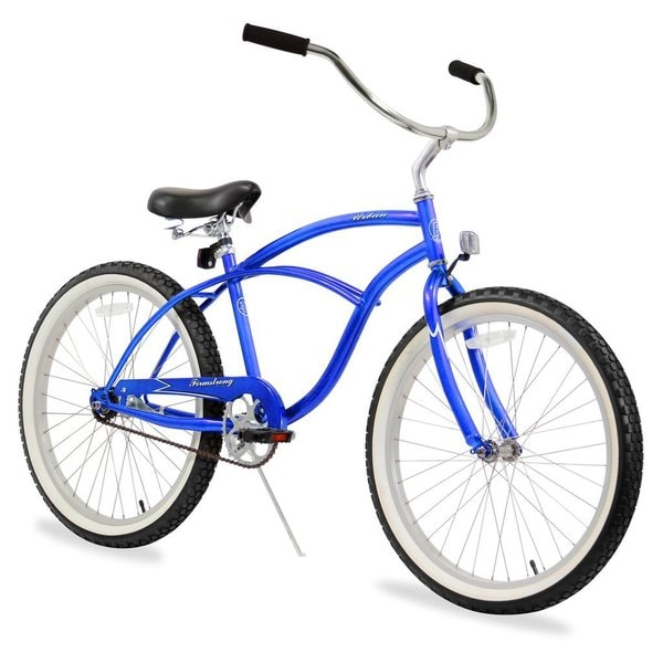 "24"" Firmstrong Urban Man Single Speed Beach Cruiser Bicycle, Royal Blue"