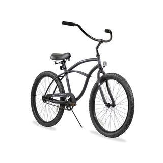 "24"" Firmstrong Urban Man Single Speed Beach Cruiser Bicycle, Matte Black"