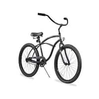 """24"""" Firmstrong Urban Man Single Speed Beach Cruiser Bicycle, Matte Black"""