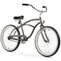 "24"" Firmstrong Urban Man Single Speed Beach Cruiser Bicycle, Matte Grey"