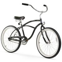 "24"" Firmstrong Urban Man Single Speed Beach Cruiser Bicycle, Black"