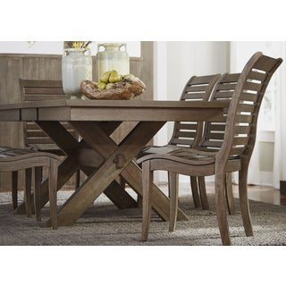 Bayside Washed Chestnut 40x78 Trestle Table
