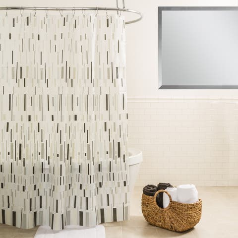 Splash Home Bars Grey Shower Curtain