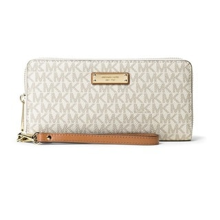 Michael Kors Jet Set Travel Vanilla Continental Wristlet Wallet|https://ak1.ostkcdn.com/images/products/15677659/P22098771.jpg?impolicy=medium