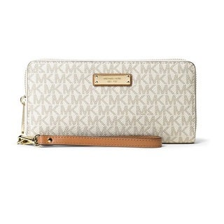 Michael Kors Jet Set Travel Vanilla Continental Wristlet Wallet