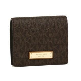 Michael Kors Signature Brown Jet Set Card Holder Wallet