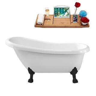 Streamline 61-inch Soaking Clawfoot Tub