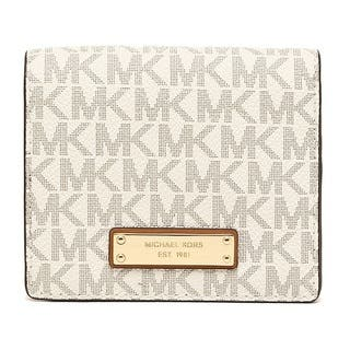 Michael Kors Signature Vanilla Jet Set Card Holder Wallet|https://ak1.ostkcdn.com/images/products/15677718/P22098773.jpg?impolicy=medium