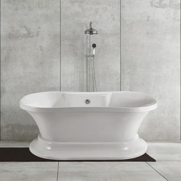 Streamline 60inch Soaking Freestanding Tub with External Drain