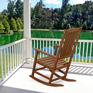 Furinno Tioman Hardwood Rocking Chair in Teak Oil, FG16705
