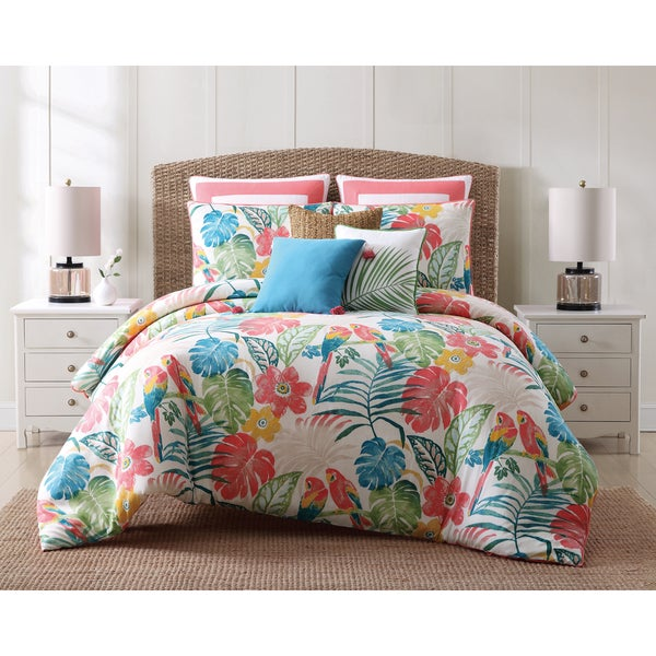 Color Complete Queen Bed Set New 21-Piece Tropical Breeze Multi