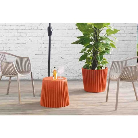 Sunjoy Burnt Orange Side Table/Planter