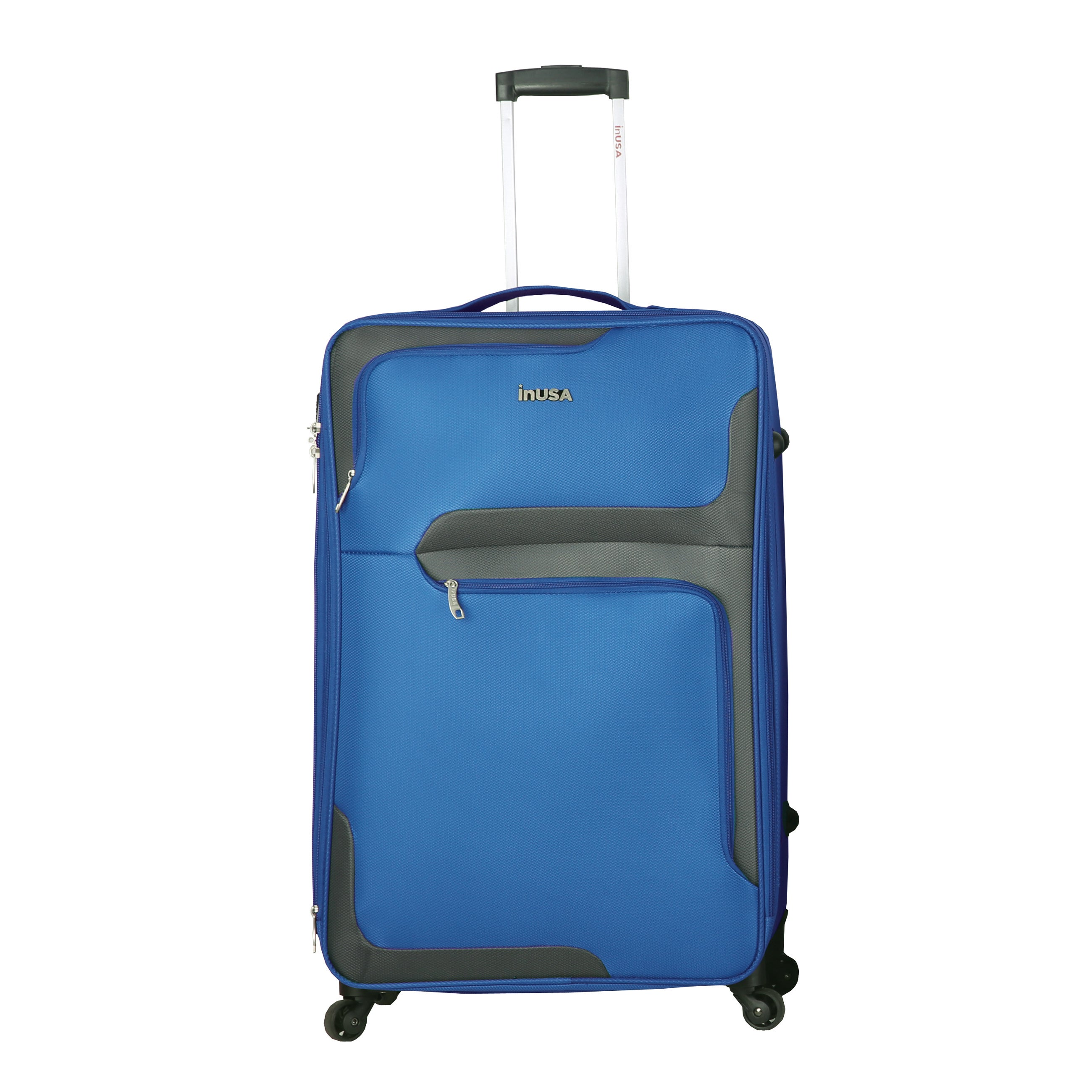 4db30fba6a84 InUSA 3D- City 28-Inch Lightweight Softside Spinner Suitcase