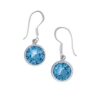 Handmade Silver Blue Topaz Earrings (Mexico)