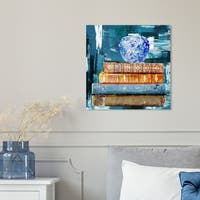 Oliver Gal 'Ginger and Marco Polo Library by Julianne Taylor' Canvas Art